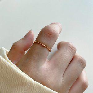 18K Goldplated Thin Minimalist Rings